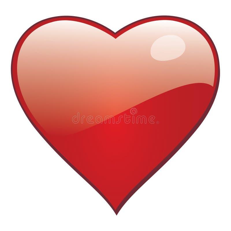导航圣徒华伦泰贺卡和浪漫爱的心脏 库存例证