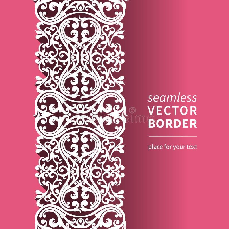 导航在平的设计样式的维多利亚女王时代的装饰边。 皇族释放例证
