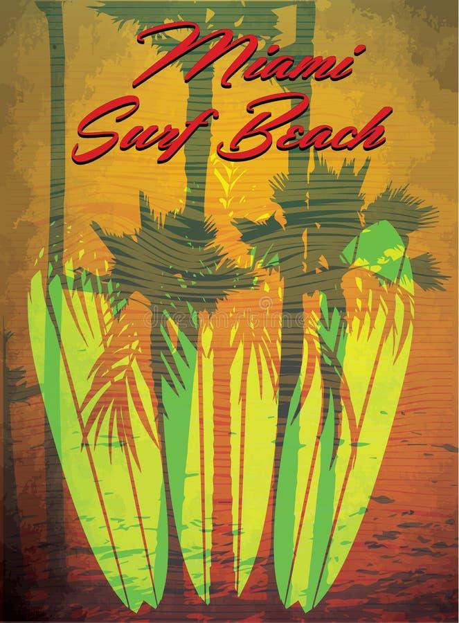 导航在海浪和海浪俱乐部迈阿密Gru题材的例证  皇族释放例证