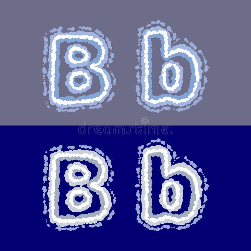 导航在灰色和蓝色背景的信件B 皇族释放例证