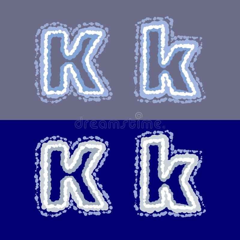 导航在灰色和蓝色背景的信件K 皇族释放例证