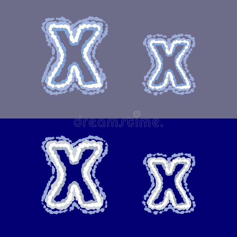 导航在灰色和蓝色背景的信件x 免版税库存图片