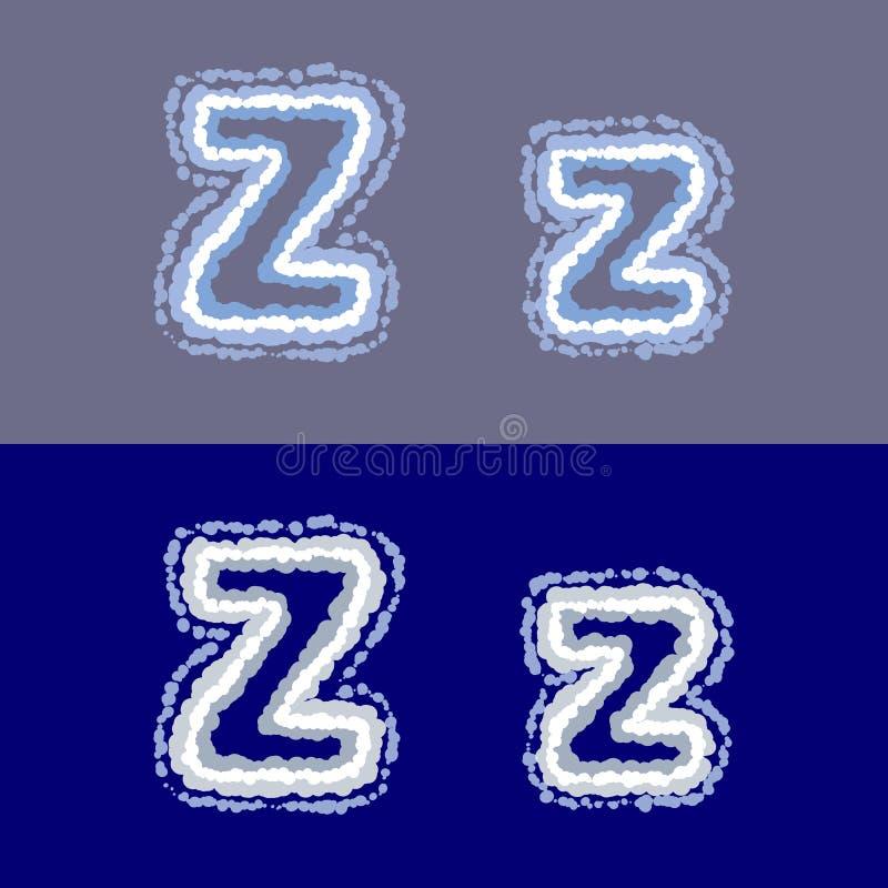 导航在灰色和蓝色背景的信件Z 向量例证