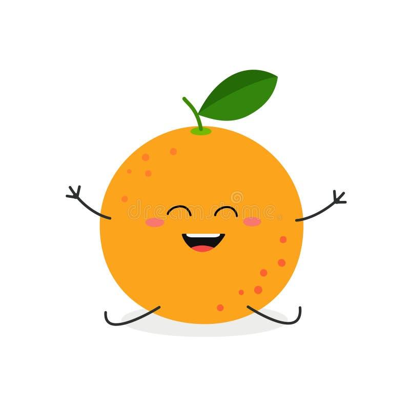 导航在白色背景隔绝的愉快的动画片葡萄柚的例证 库存例证