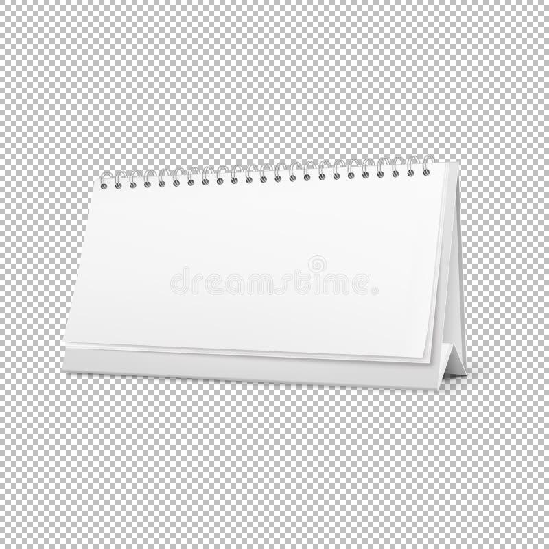 导航在白色背景隔绝的现实水平的常设空白的螺旋桌日历 eps10开花橙色模式缝制的rac ric缝的镶边修整向量墙纸黄色 库存例证