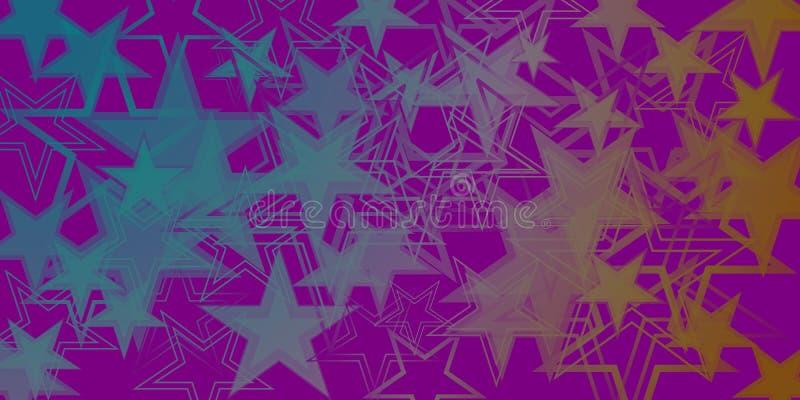 导航在蓝星的黑暗的紫色金属背景 向量例证