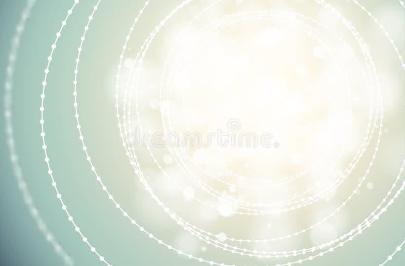 导航在轻的背景的隧道导线小珠精美结构发光的火光 现代发光的中心抽象网络的科学幻想小说 皇族释放例证