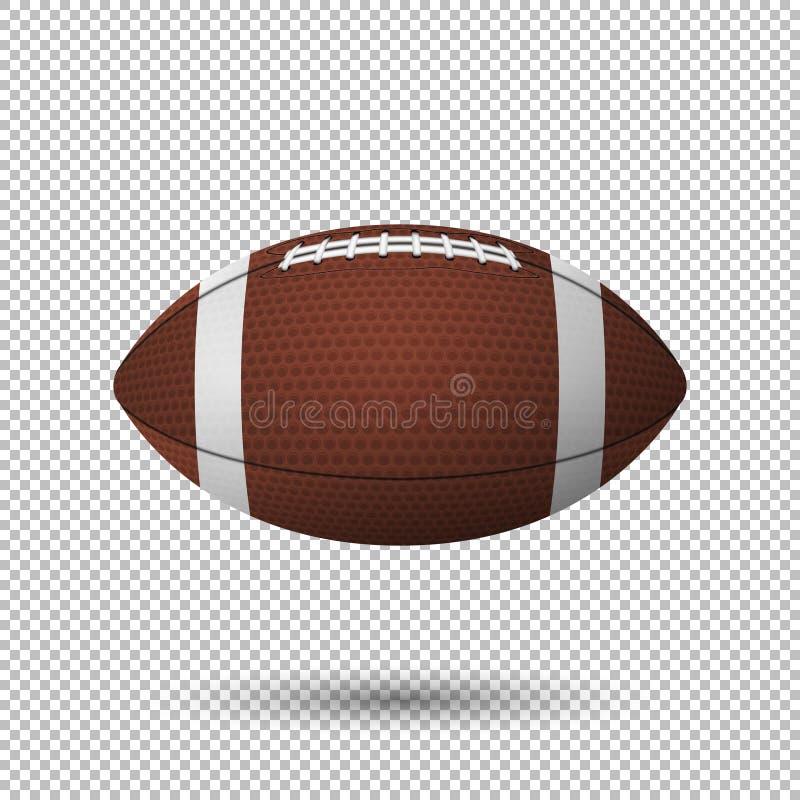 导航在透明背景的现实飞行橄榄球特写镜头 在EPS10的设计模板 向量例证