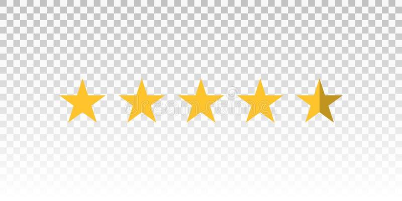 导航在透明背景隔绝的黄色星规定值酒吧 设计的元素您的网站或app 皇族释放例证