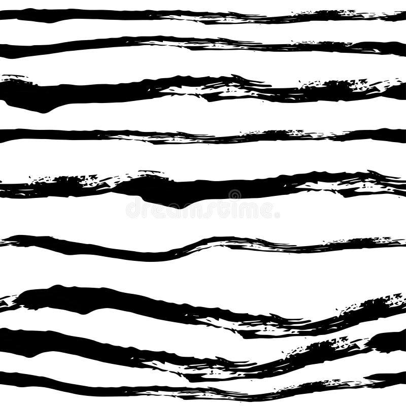 导航在难看的东西样式的手拉的黑白无缝的样式 皇族释放例证