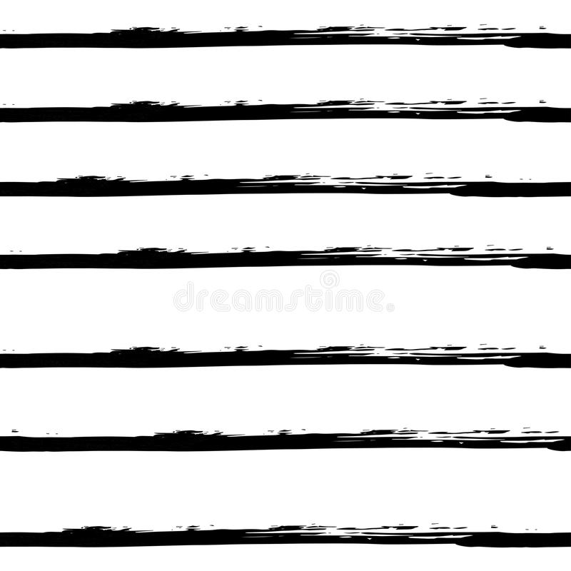 导航在难看的东西样式的手拉的黑白无缝的样式 向量例证