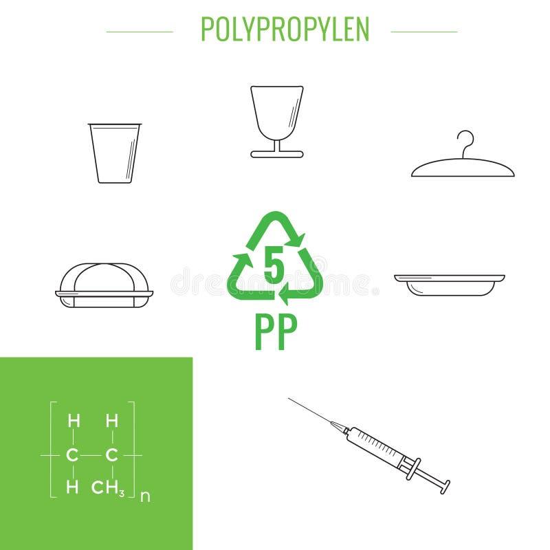 导航塑料可再循环的项目 向量例证