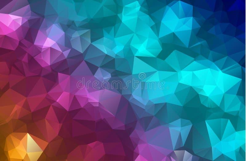 导航多角形抽象现代多角形几何三角背景 五颜六色的几何三角背景 向量例证