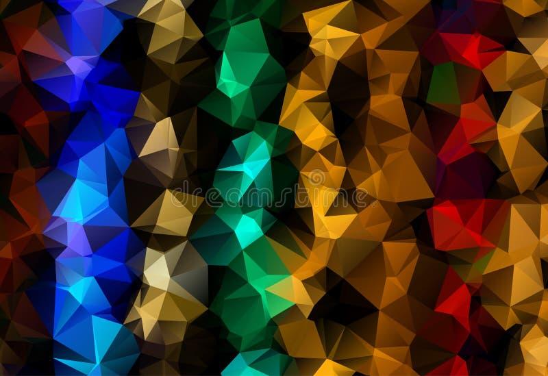 导航多角形抽象现代多角形几何三角背景 暗色几何三角背景 皇族释放例证