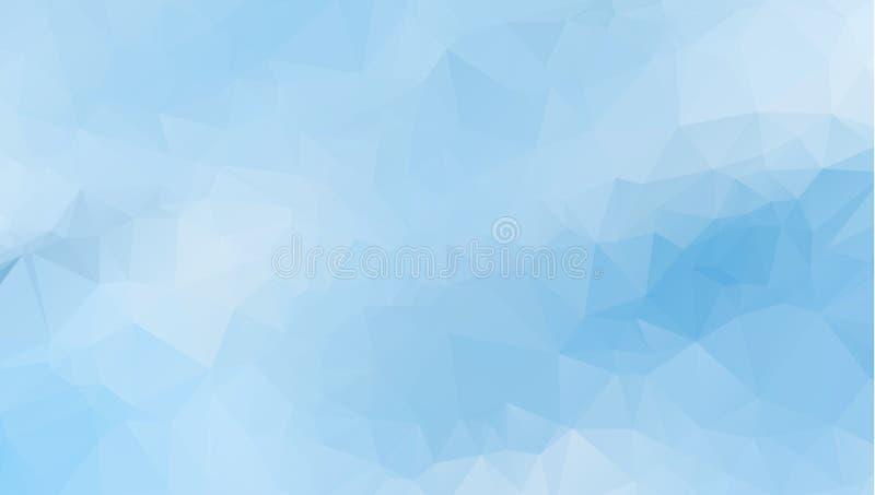 导航多角形抽象现代多角形几何三角背景 蓝色轻的几何三角背景 向量例证