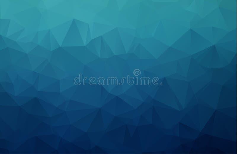 导航多角形抽象现代多角形几何三角背景 库存例证