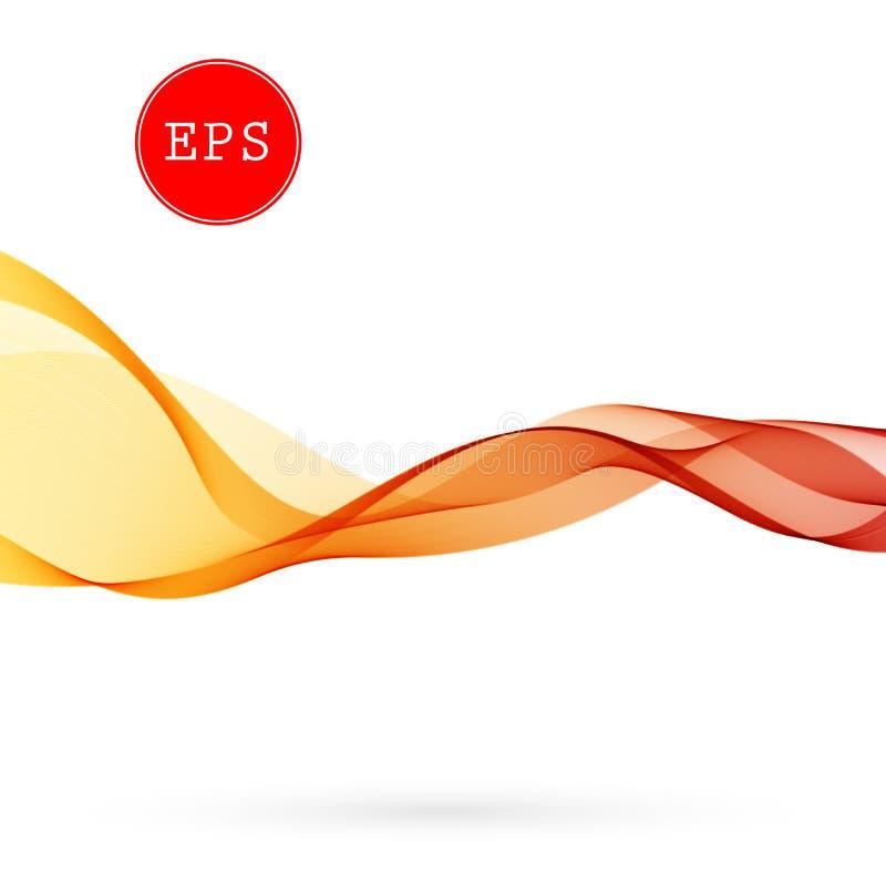 导航小册子的,网站,设计颜色抽象光谱发烟性波浪背景 向量例证