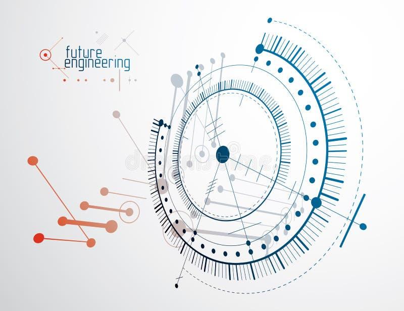 导航工业和工程学背景,未来技术p 皇族释放例证