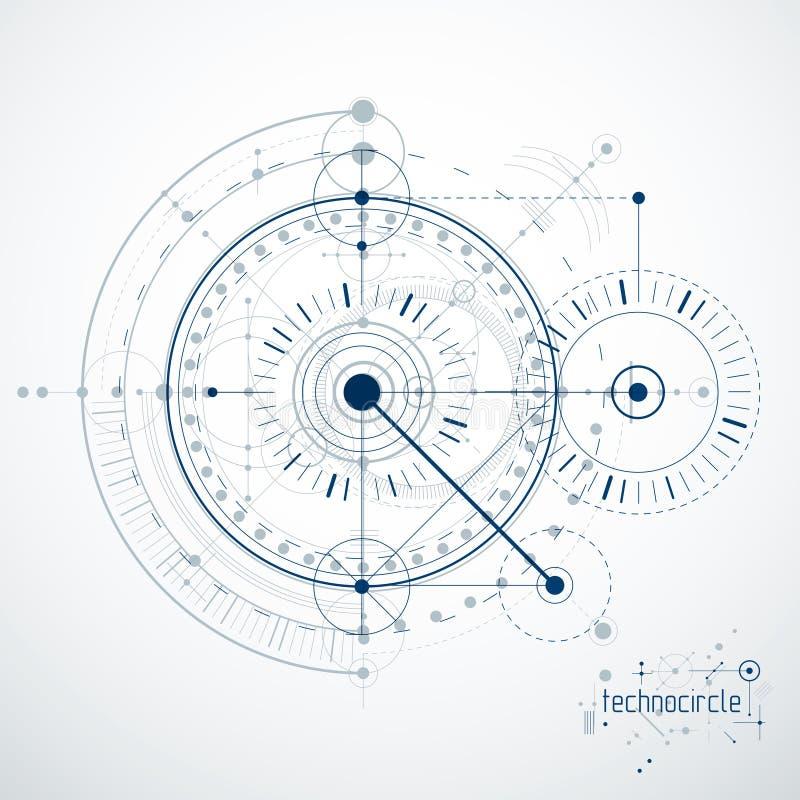 导航工业和工程学背景,未来技术p 向量例证