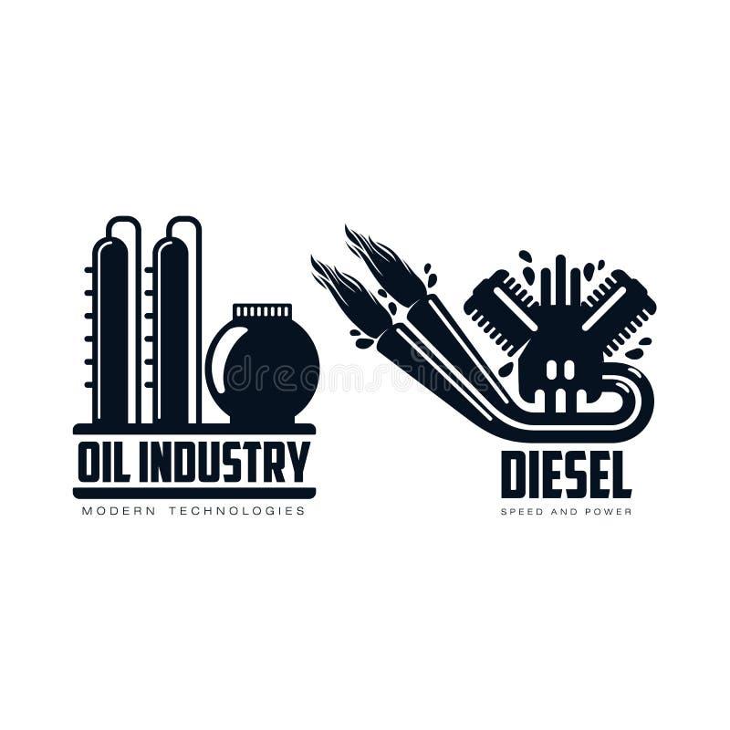 导航平的象汽油发动机,炼油厂集合 库存例证
