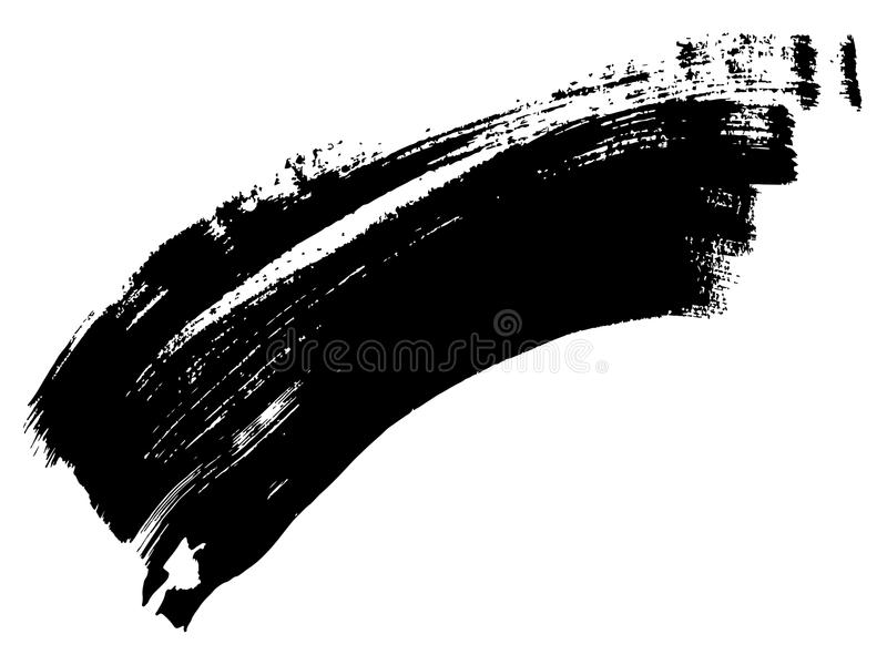 导航徒手画的黑油漆,墨水丙烯酸酯手工制造 皇族释放例证