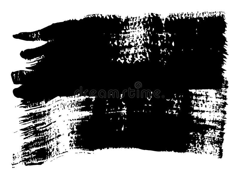 导航徒手画的黑油漆,墨水或者丙烯酸酯手工制造 皇族释放例证