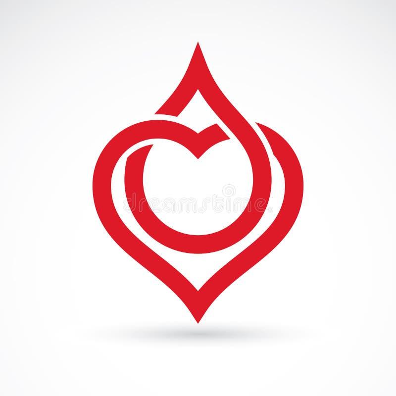 导航心脏形状的例证和血液 Cardiovas 皇族释放例证