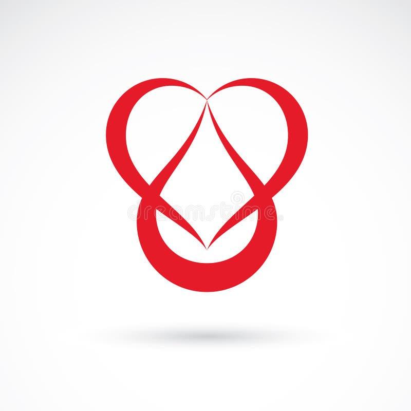 导航心脏形状的例证和血液 Cardiovas 库存例证