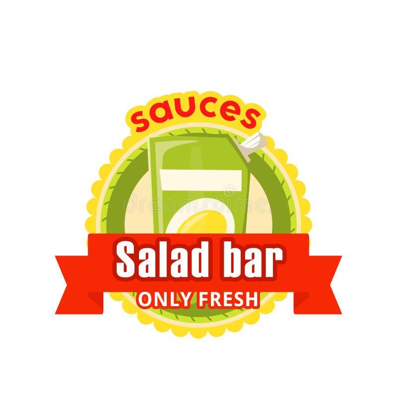 导航快餐沙拉柜台咖啡馆小餐馆的象 库存例证