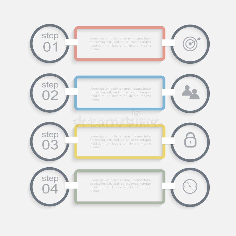 导航您的企业介绍的五颜六色的信息图表 皇族释放例证