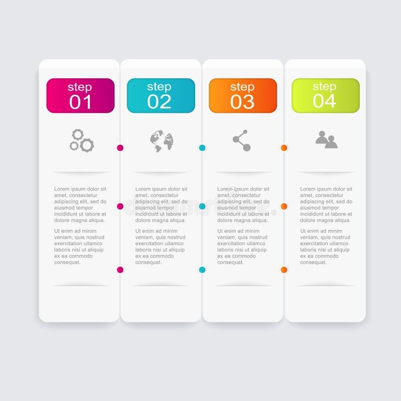 导航您的企业介绍的五颜六色的信息图表 库存例证