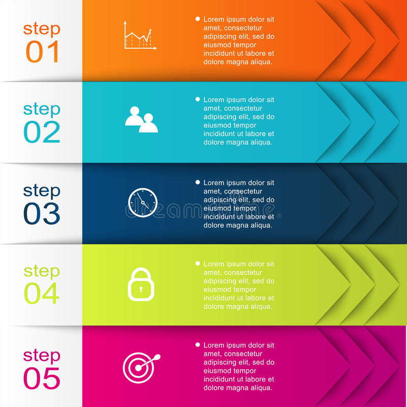 导航您的企业介绍的五颜六色的信息图表 向量例证