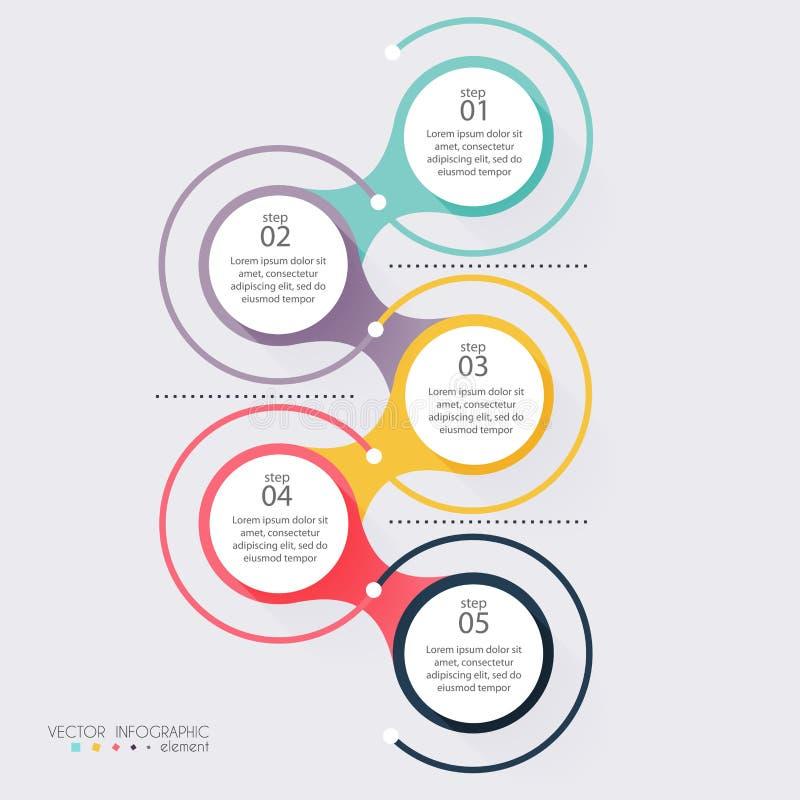 导航您的企业介绍的五颜六色的信息图表 C 向量例证