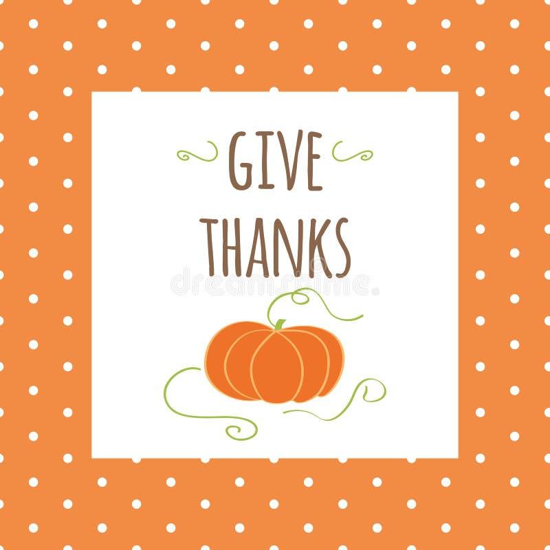 导航愉快的感恩天,手拉的设计的例证 印刷术海报给在秋天颜色的感谢 皇族释放例证
