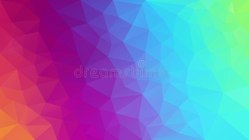 导航抽象不规则的多角形背景完整色彩的光谱霓虹彩虹-对角梯度 向量例证