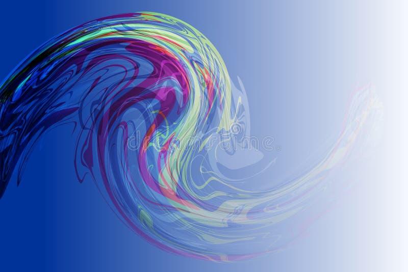 导航抽象五颜六色的流线波浪背景,墙纸 皇族释放例证