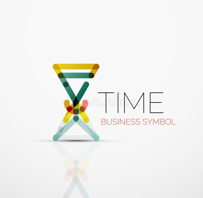 导航抽象商标想法、时间概念或者时钟企业象 创造性的略写法设计模板 库存例证