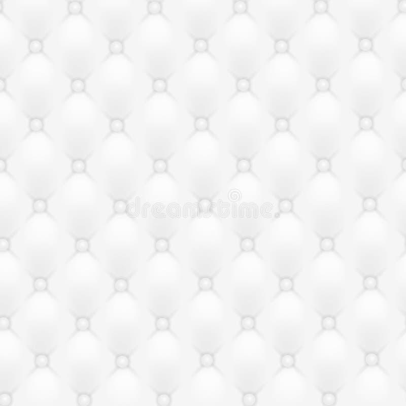 导航抽象室内装饰品或白革纹理沙发背景 皇族释放例证