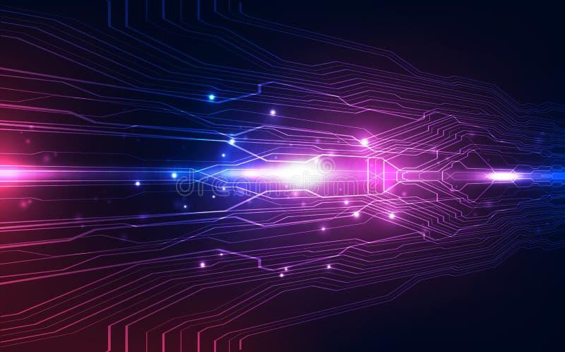 导航抽象未来派高速,例证高数字技术五颜六色的背景概念 向量例证