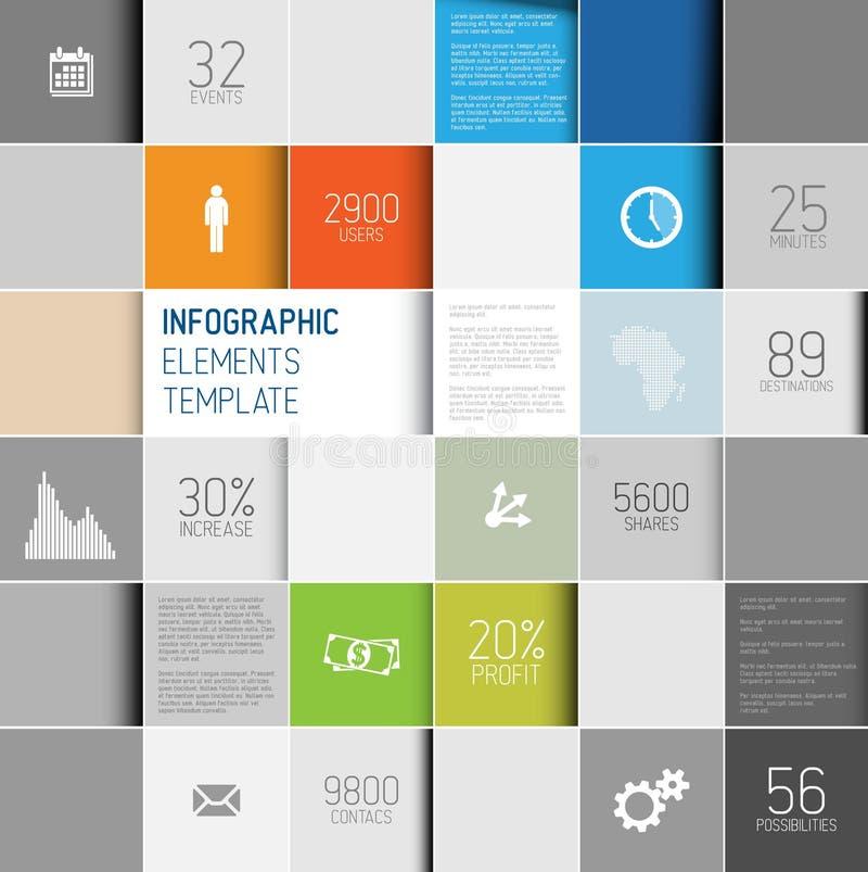 导航抽象正方形背景例证/infographic模板 向量例证