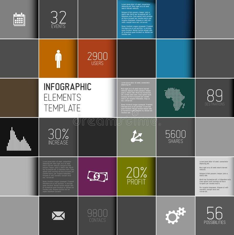 导航抽象正方形背景例证/infographic模板 库存例证