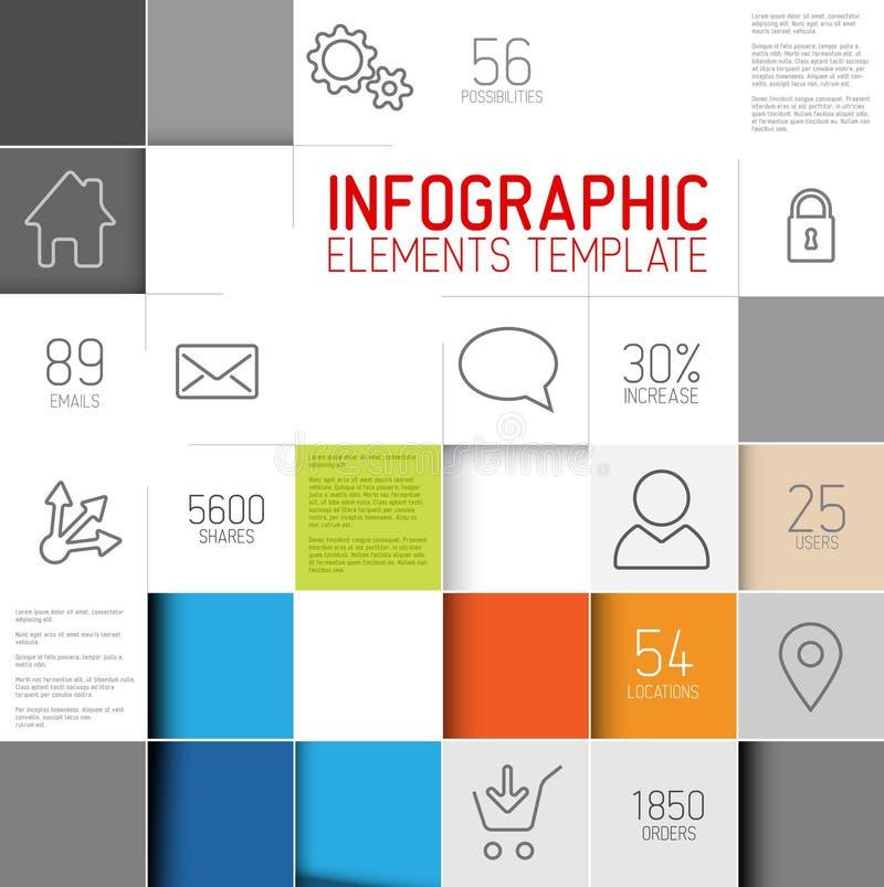 导航抽象正方形背景例证/infographic模板 皇族释放例证