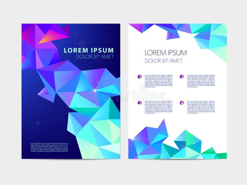 导航抽象飞行物,小册子,年终报告 雕琢平面的现代设计,五颜六色的几何deisgn 库存例证