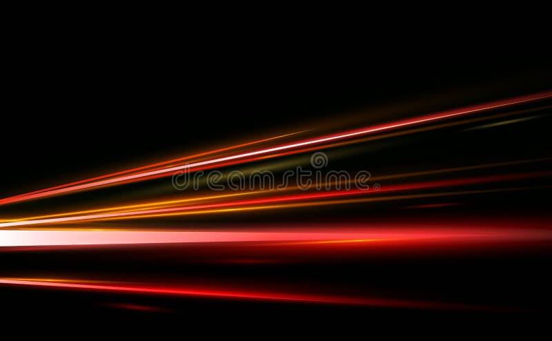 导航摘要,科学,未来派,能源技术概念的例证 线的图象与光,速度的 向量例证
