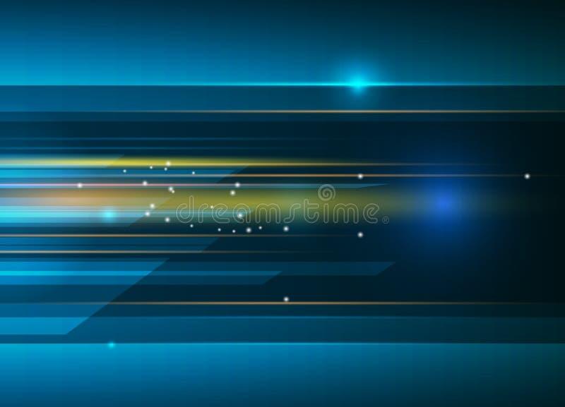 导航摘要,科学,未来派,能源技术概念 向量例证