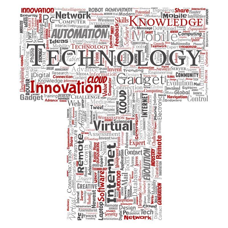 导航数字式聪明的技术,创新媒介信件字体T 皇族释放例证