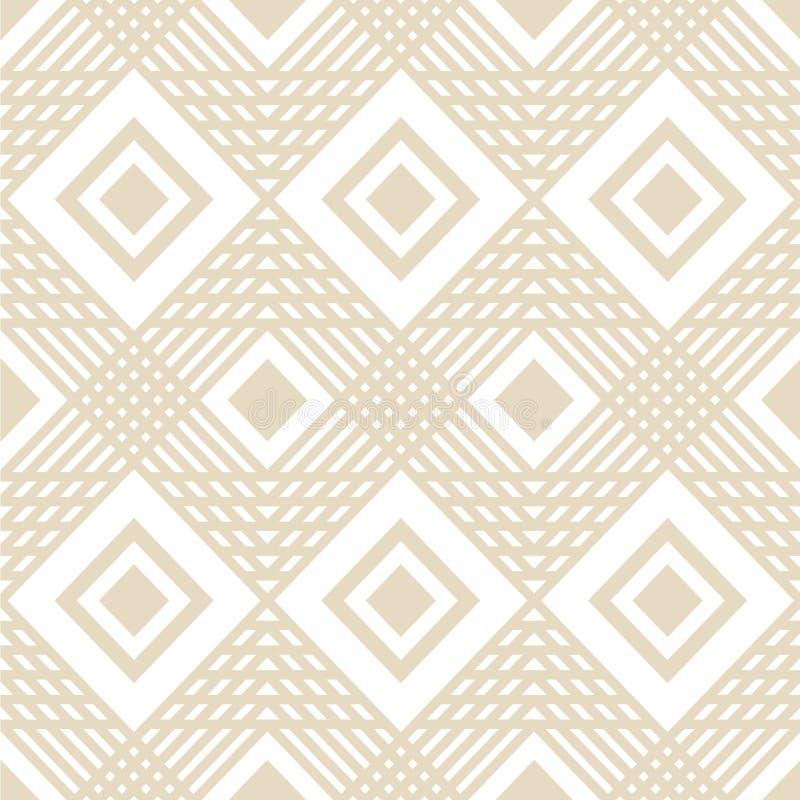 导航方形的几何线与颜色奶油的样式背景 皇族释放例证