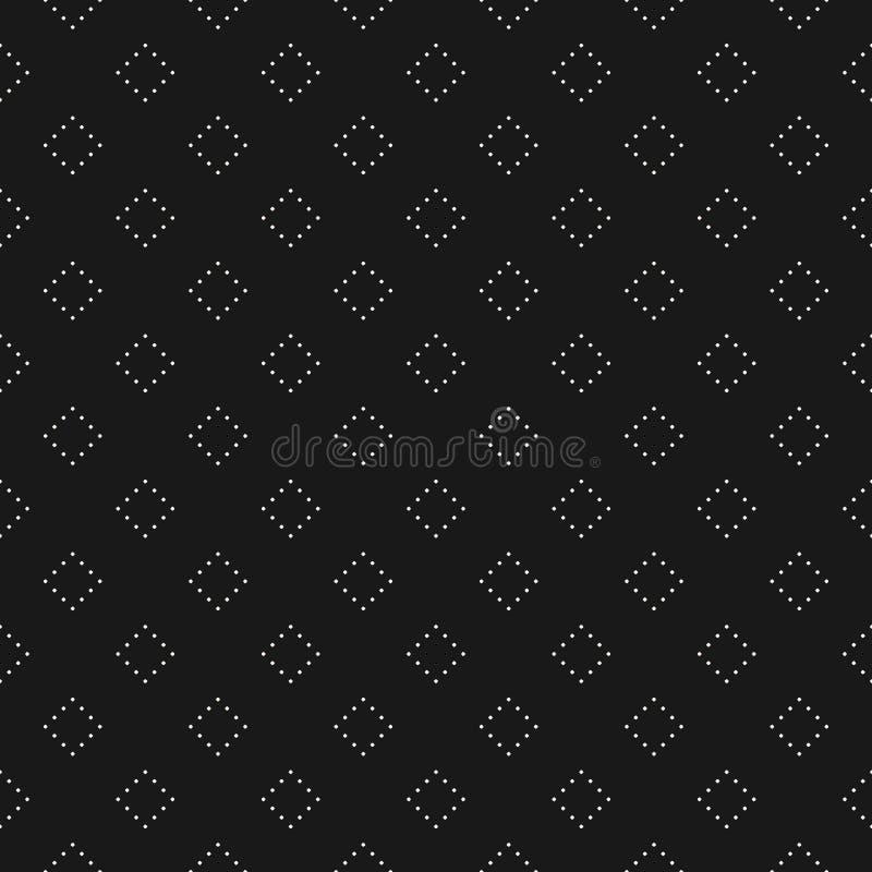 导航无缝的样式、最低纲领派纹理与被加点的菱形或正方形 库存例证