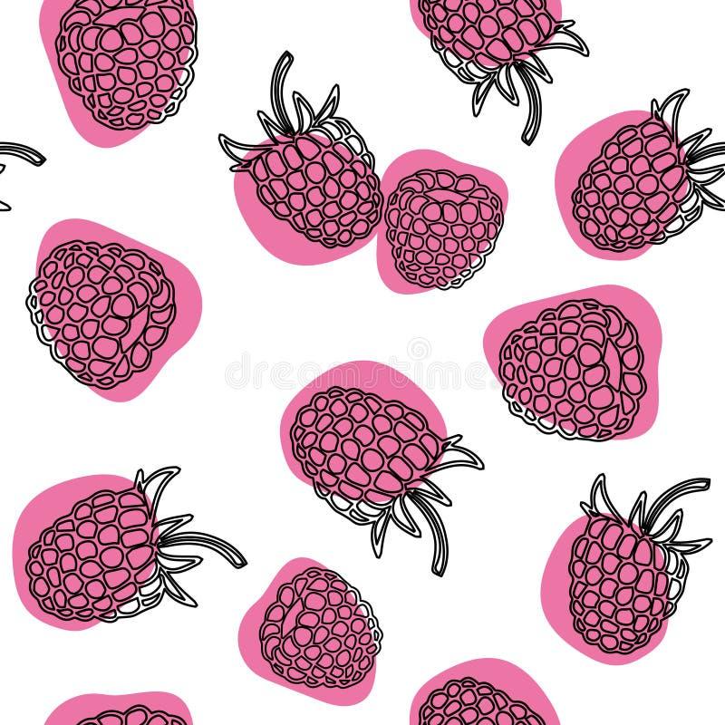 导航无缝的样式用在被隔绝的白色背景的莓 向量例证