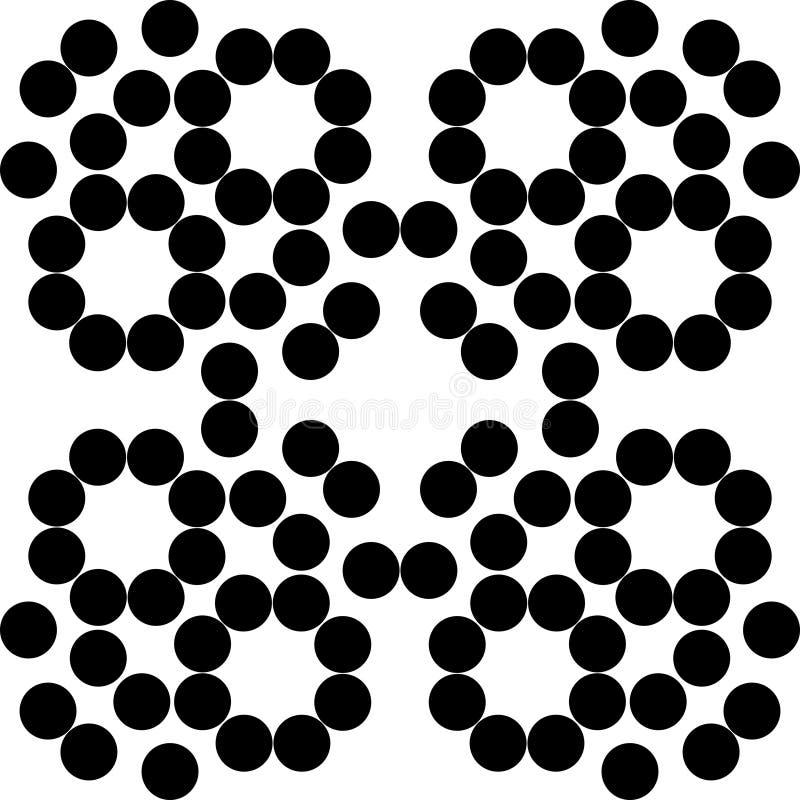 导航无缝的样式,单色镶嵌构造,装饰b 向量例证